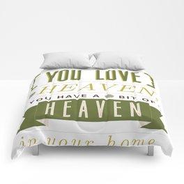 Someone In Heaven-GREEN Comforters