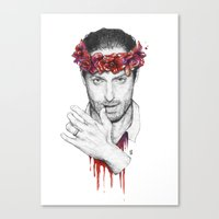 rick grimes Canvas Prints featuring Rick Grimes by Nikita Jobson