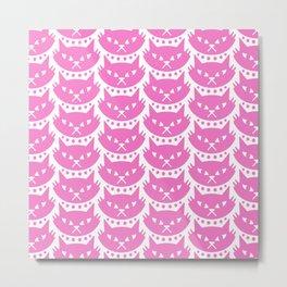 Mid Century Modern Cat Pink Metal Print