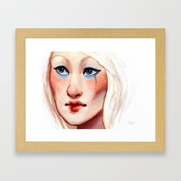 To Blush and to Bleed Framed Art Print