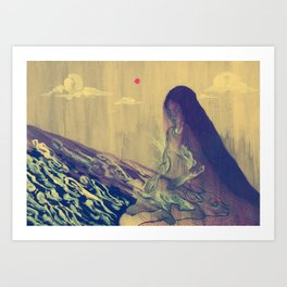 Dormant God Art Print
