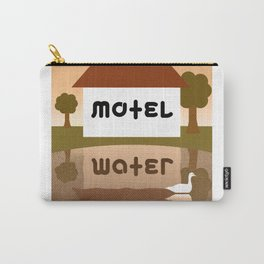 MOTEL WATER ambigram Carry-All Pouch