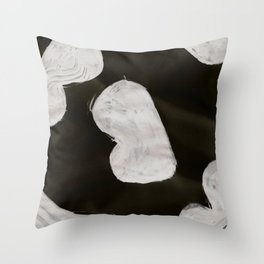 Bump, Abstract, White & Black Throw Pillow