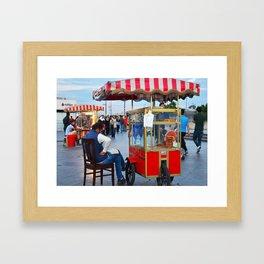 Pretzel Cart - Istanbul, Turkey Framed Art Print