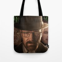 breaking bad Tote Bags featuring Breaking Bad by SB Art Productions