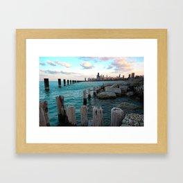 Chicago | Lakefront Skyline Framed Art Print