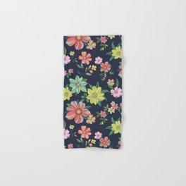 Dramatic Floral Pattern Hand & Bath Towel