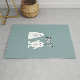 Boo! Funny Ghosts Rug