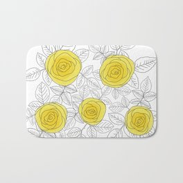 Yellow Roses Bath Mat