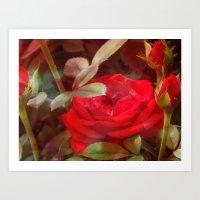 ruby Art Prints featuring Ruby by Aubrey