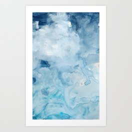Number 72 Abstract Clouds Art Print