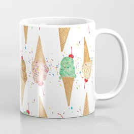 I Scream Pattern Coffee Mug