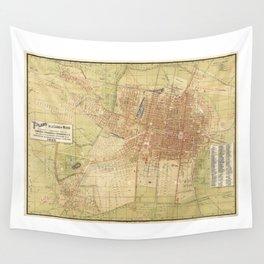 Map of Mexico City from 1907 (Plano de la Ciudad de Mexico) Wall Tapestry