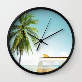 Travel surfing life Wall Clock