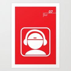07_iconobmx_Z Art Print
