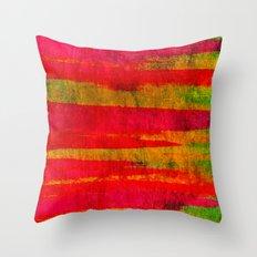 FIERCE - Intense Wild Nature Masculine Stripes Abstract Watercolor Painting Design Urban Fine Art Throw Pillow
