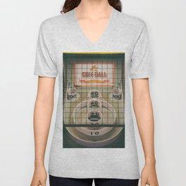 Skee Ball Game Unisex V-Neck
