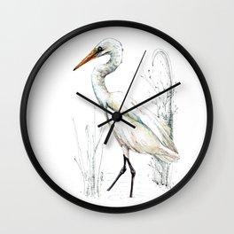 Mr Kotuku , New Zealand White Heron Wall Clock