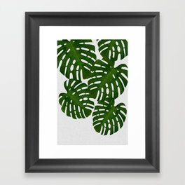 Monstera Leaf I Framed Art Print