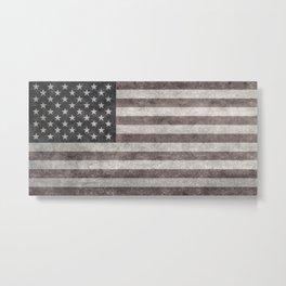 US Flag in vintage retro style Metal Print
