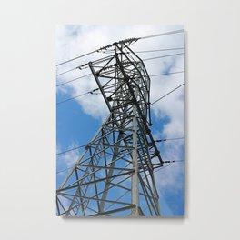 Blue Skies and Electrical Power Metal Print