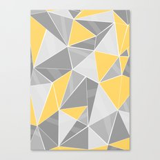 Pattern, grey - yellow Canvas Print
