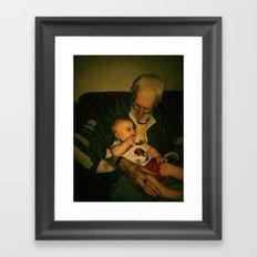 4 generations  Framed Art Print