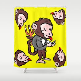 monkey butler  mono mayordomo Shower Curtain