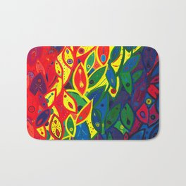 Tribute to the Decendents of the Goddex Kunta (rainbow) Bath Mat