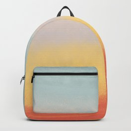 Ceramic Sunset // Multi Color Speckled Drip Summer Beach California Surf Vibes Wall Hanging Design Backpack