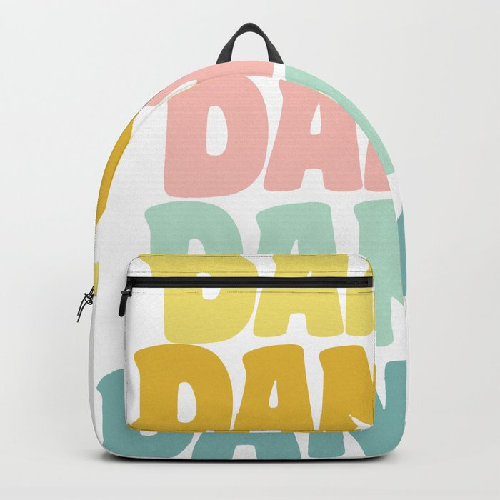Dance in Candy Pastel Lettering Backpack