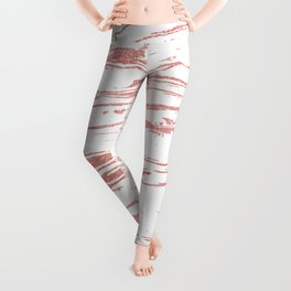 Modern abstract pink marbleized paint. Leggings