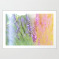 Lavender and quotes Art Print