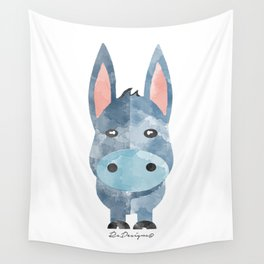 Water Colour Baby Donkey Wall Tapestry