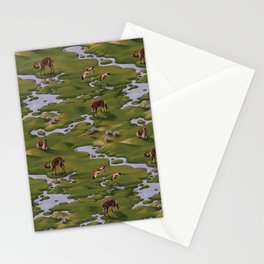 Vicuñas and Flamingoes Stationery Cards