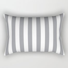 Vertical Grey Stripes Rectangular Pillow