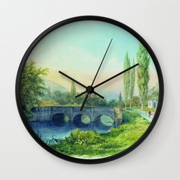 Sevastopol Aqueduct In The Gully Ushakovskaya 1850 By Lev Lagorio | Reproduction | Russian Romantici Wall Clock