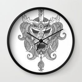 Skull Ink Wall Clock