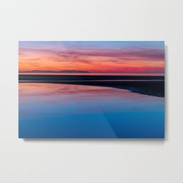 Sunset Seascape Wales Metal Print