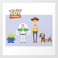 toy story Art Prints featuring Toy Story by YoongSin