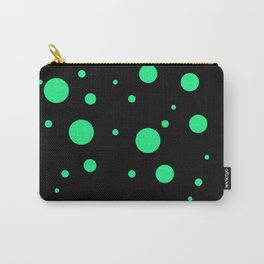 Green Bubbles On Black Carry-All Pouch