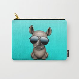 Cute Baby Rhino Wearing Sunglasses Carry-All Pouch