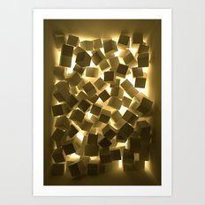 3D What Burns in Your Box? Art Print