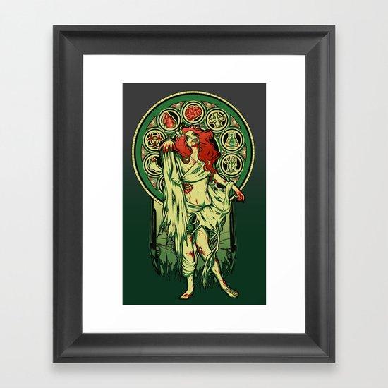 Zombie Nouveau Framed Art Print
