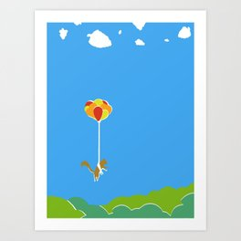 A Squirrel's Journey Art Print
