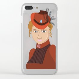 Lady in a Victorian Hat Clear iPhone Case