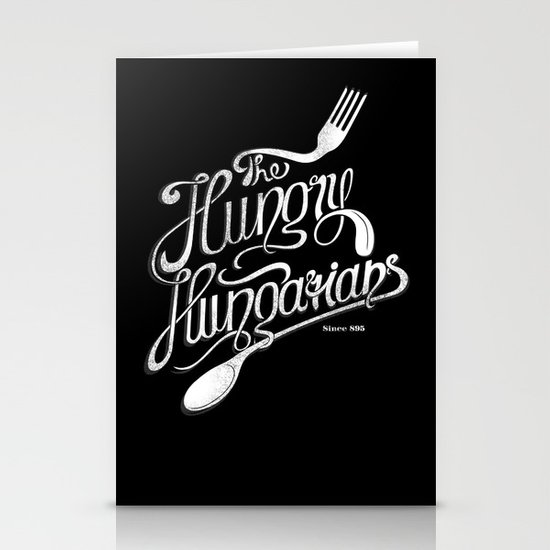 The Hungry Hungarians Stationery Cards