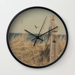 Paradise New England Beach Ocean Seaside Neutral Photography Fine Art Prints New  Wall Clock