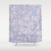 Rose Quartz and Serenity Blue 4644 Shower Curtain