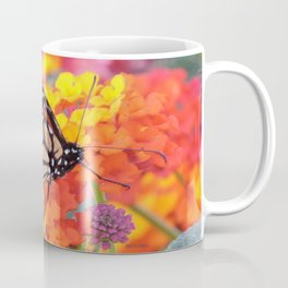 Monarch Feeding on Lantana Coffee Mug